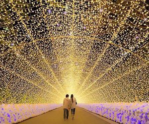 japan, lights, and romance image
