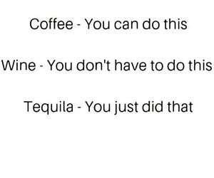 coffee, tequila, and wine image