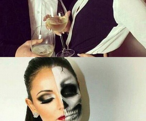 calavera, couple, and Halloween image
