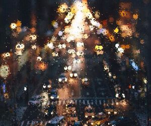 rain, city, and light image