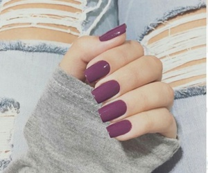 nails, purple, and beauty image