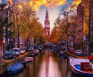 amsterdam, beautiful, and boat image