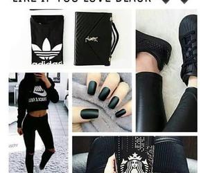 black, dark, and moda image