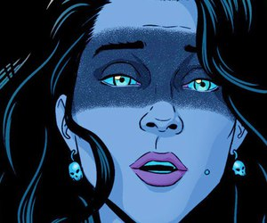 comics, morrigan, and the wicked the divine image
