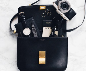 bag, black, and camera image