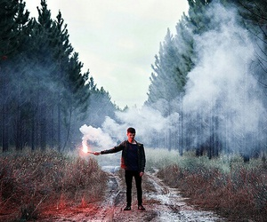 boy, photography, and fire image