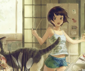 anime, neko, and cute image