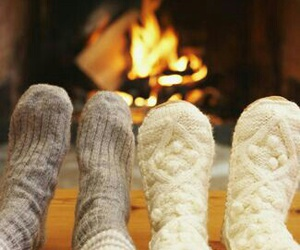 winter, socks, and christmas image