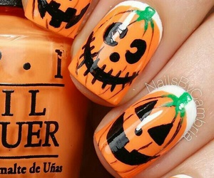 Halloween, fall, and nails image