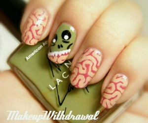 nails, Halloween, and zombie image