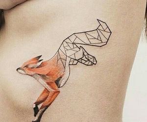 tattoo, fox, and art image