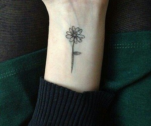 tattoo, flowers, and grunge image