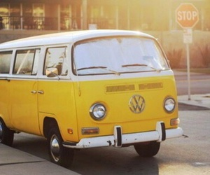 yellow, car, and volkswagen image