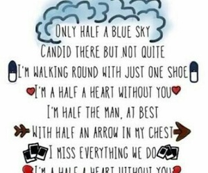 one direction and half a heart image