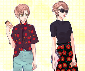 anime girl, jaehee kang, and fashion image
