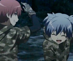 assassination classroom, karma, and nagisa image