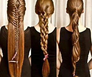 hair, trenzas, and style image