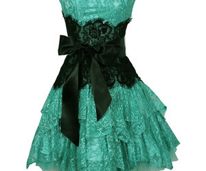 dress, black, and green image