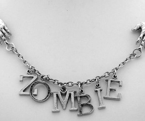 zombie, black and white, and colar image