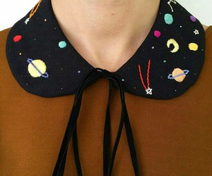 embroidery, galaxy, and planets image