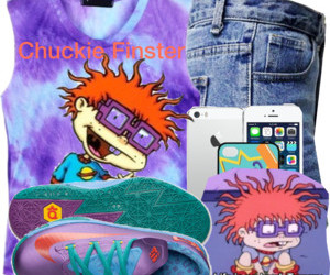 chuckie finster, Polyvore, and rugrats image