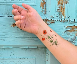 arm, flower, and inspiration image