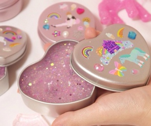 cute, glitter, and unicorn image