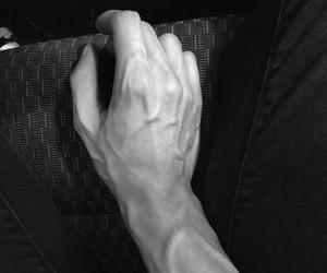 boy, sad, and hand image