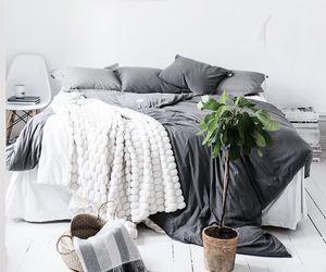bedroom, dark, and decor image