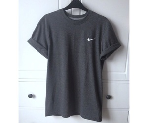 nike, grey, and t-shirt image