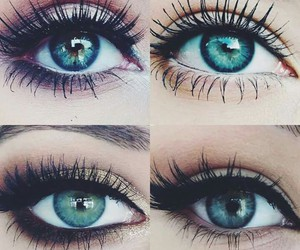 make up and eyes beautiful image