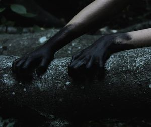 black, hands, and dark image