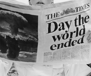 black and white, newspaper, and world image