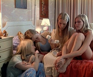 girl, the virgin suicides, and movie image
