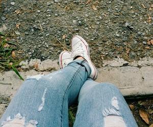 casual, converse, and jeans image