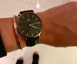 watches, black, and daniel wellington image