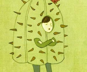 vida, frases español, and cactus image