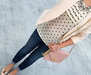flats, jeans, and necklace image