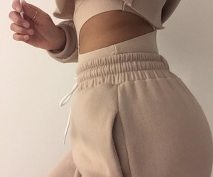 beige, outfit, and stylish image