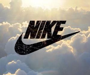 nike, sky, and wallpaper image