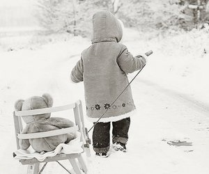 winter, snow, and child image