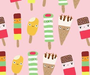 background, dessert, and ice cream image