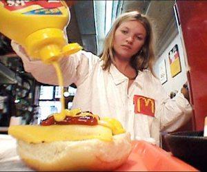 kate moss, McDonalds, and model image