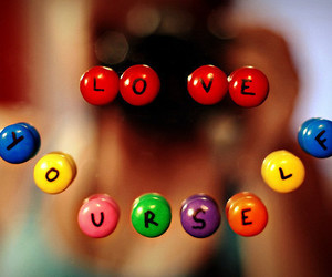love, yourself, and text image
