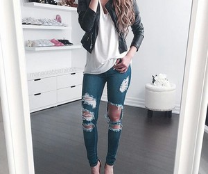 casual, chic, and jeans image