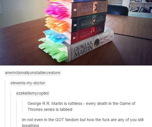 book, game of thrones, and funny image