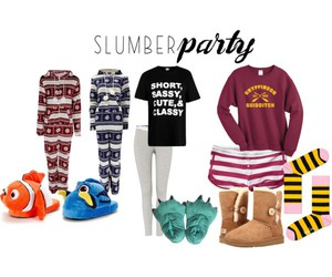 fasion, Polyvore, and slumber party image