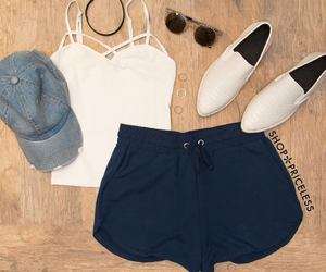 denim, gorra, and outfit image