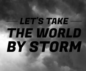 easel, quote, and storm image