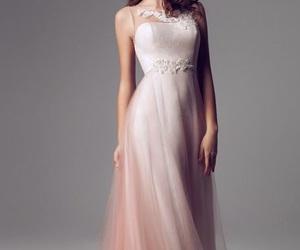 dress, woman, and pink image